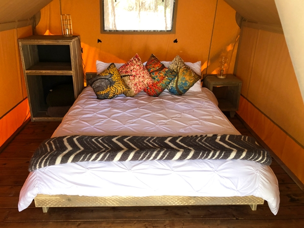 Safari Tent Inside Bedroom